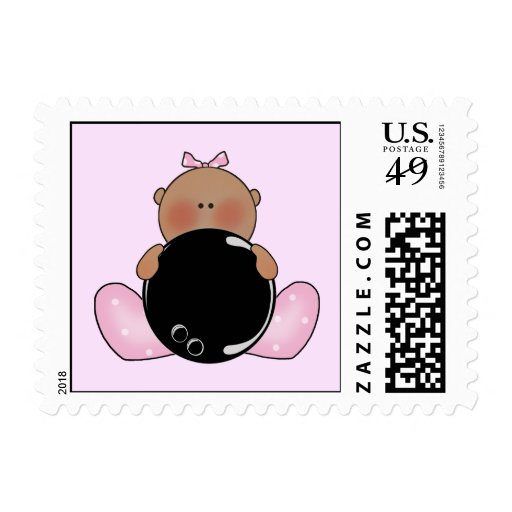 Lil Bowling Baby Girl - Ethnic Stamps