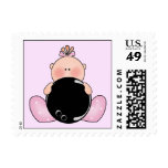 Lil Bowling Baby Girl Stamp