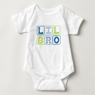 LIL BRO OUTLINE BLOCKS BABY BODYSUIT