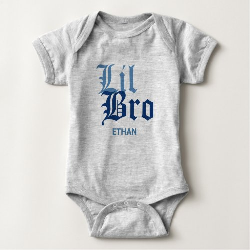 Lil Bro with Name Baby Bodysuit