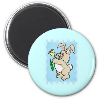 Lil Brown Bunny 2 Inch Round Magnet