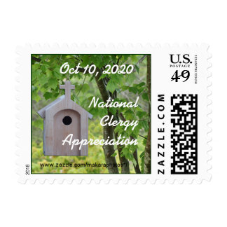 Lil Brown Church Birdhouse Stamp- customize