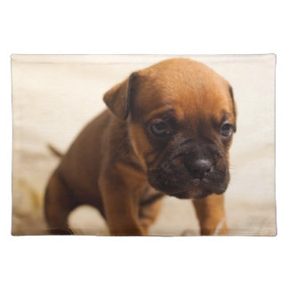 Lil Brown Puppy Dog Cloth Place Mat