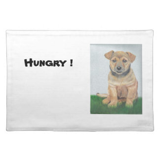 Li'l Brown Puppy Painting Placemat