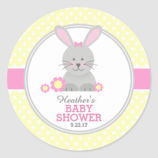 Lil Bunny Baby Shower Classic Round Sticker