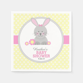Lil Bunny Baby Shower Paper Napkin
