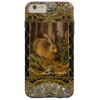 Lil Bunny in the Garden 6/6s Monogram Plus Tough iPhone 6 Plus Case