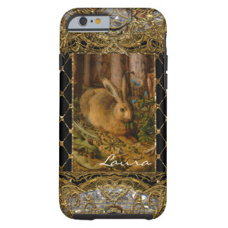 Lil Bunny in the Garden 6/6s Monogram Tough iPhone 6 Case