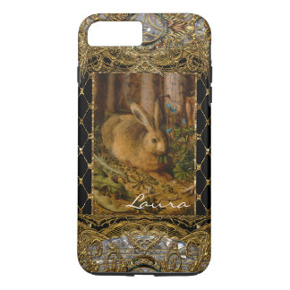 Lil Bunny in the Garden  Monogram Plus iPhone 8 Plus/7 Plus Case