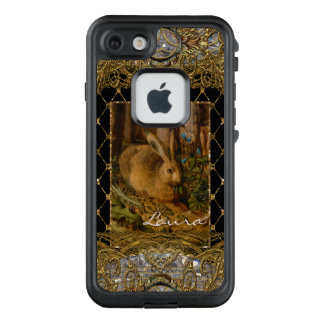 Lil Bunny in the Garden VII Monogram LifeProof FRĒ iPhone 7 Case