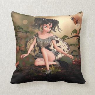 Li'l Butterfly Faerie Throw Pillow