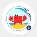 lil' CANCER Round Sticker