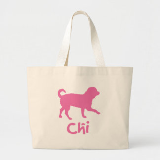 Lil' Chihuahua w/ Chi Text (pink) Tote Bag