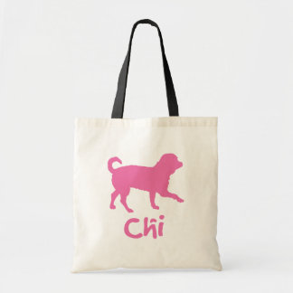 Lil' Chihuahua w/ Chi Text (pink) Canvas Bags