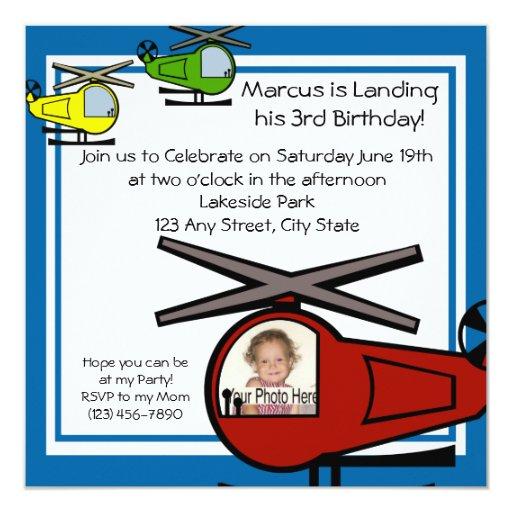 Lil' Chopper Personalized Invites