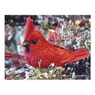 Lil Christmas Redbird Postcard- customize Postcard