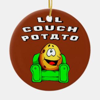 Lil Couch Potato Ceramic Ornament