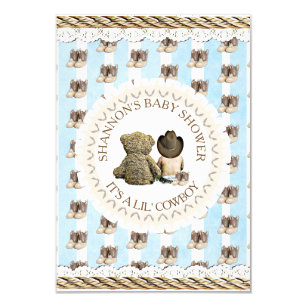 Western Baby Invitations Announcements Zazzle