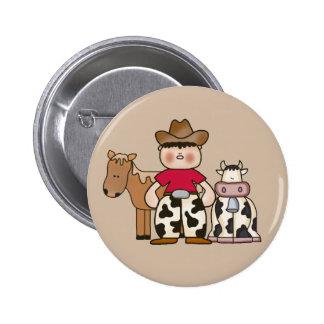 Lil Cowboy 2 Inch Round Button