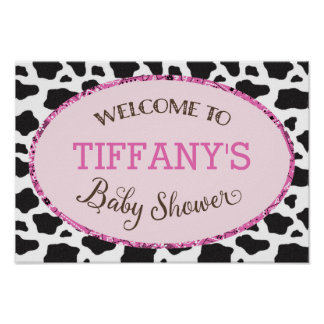 Lil' Cowgirl Baby Shower Personalized Poster
