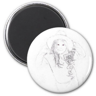 Lil' Cowgirl Gifts & Tees 2 Inch Round Magnet