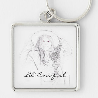 Lil' Cowgirl Gifts & Tees Keychain