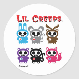Lil Creeps Collection Classic Round Sticker