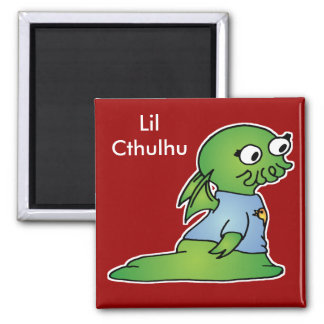 Lil Cthulhu 2 Inch Square Magnet