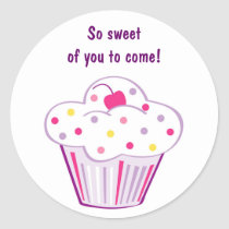 Lil Cupcake Birthday Favor Stickers