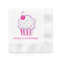 Lil Cupcake Girl Birthday Napkins