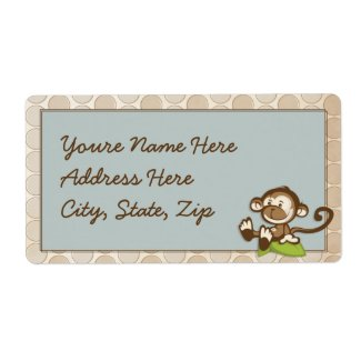 Lil Cute Monkey Shipping Labels label