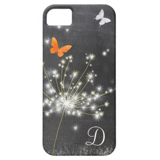 Lil Dandelion + Chalkboard Monogram iPhone 5/5S iPhone 5/5S Cases