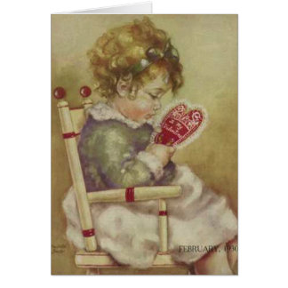'Lil Darling' Vintage Valentine Card