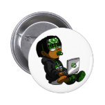 Lil Deadly Green Pinback Buttons