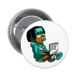 Lil Deadly Teal Pinback Buttons