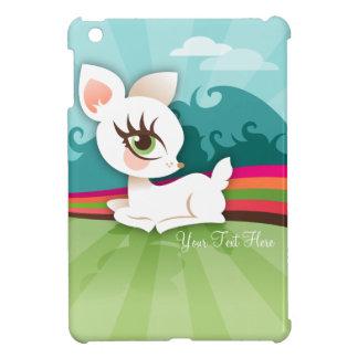 Lil Deerie blanco - mini caso del iPad de encargo