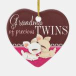 Lil Deerie hermana rosa y a Brown Ornamentos Para Reyes Magos