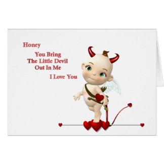 lil devil greeting card