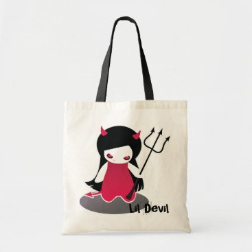 Beach Themed Lil' Devil Tote Bag