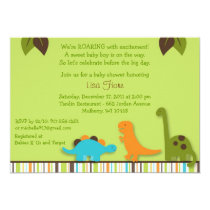 Lil Dino Dinosaur Boys Baby Shower Invitation