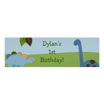 Lil Dino Dinosaur Boys Birthday Banner Sign Poster