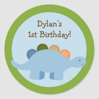 Lil Dino Dinosaur Boys Envelope Seals Stickers