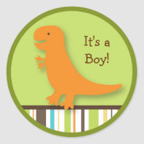 Lil Dino Dinosaur Stickers Envelope Seals