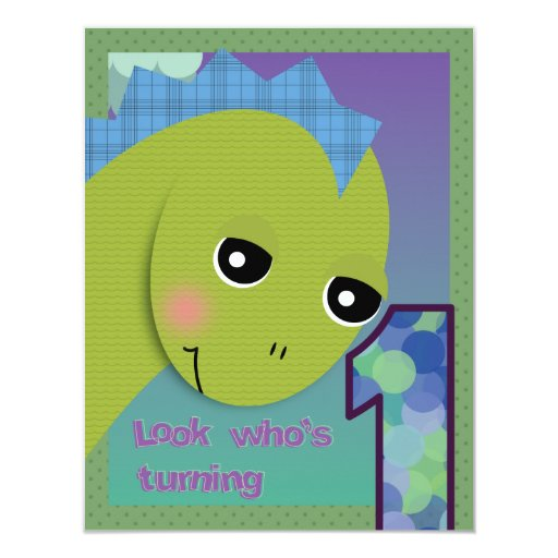 Lil' Dino Invitation - 1st Birthday