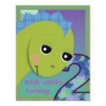 Lil' Dino Invitation - 2nd Birthday