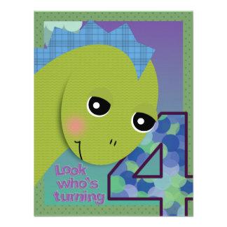 Lil' Dino Invitation - 4th Birthday
