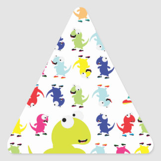 Lil Dino Lizards Triangle Sticker