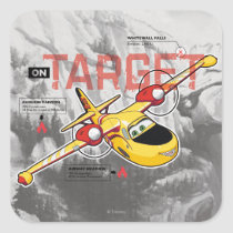 Lil' Dipper On Target Graphic Square Sticker