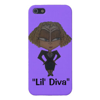 """""""Lil' Diva"""" IPhone 5S Case Purple"""