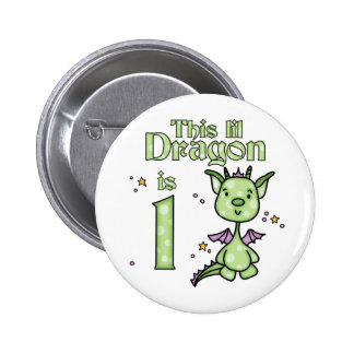 Lil Dragon 1st Birthday Button